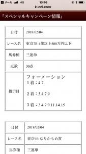 競馬オンラインの有料情報1