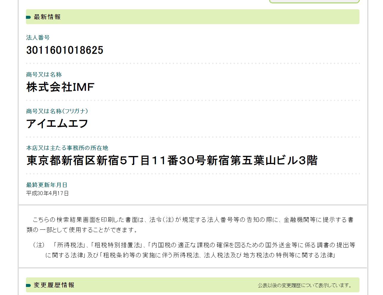 インデックス21運営会社株式会社IMF